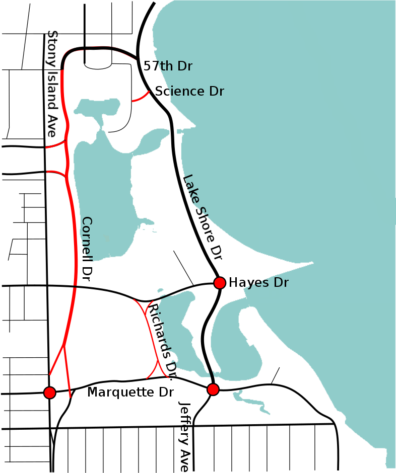 Proposed roadway closures.