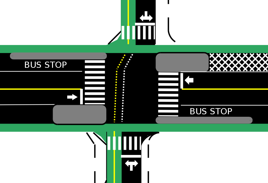 Alternative Design for a signalized intersection at 55th and University.